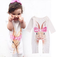 Buy 0-24M Newborn Infant Baby Girls Romper Jumpsuit Clothes Long Sleeve Cotton Cute Rabbit Outfits Clothing for $4.91 in AliExpress store