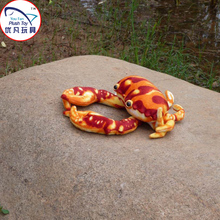 2016 realistic design crab plush toy stuffed sea animal red crab mini toy gift(China)