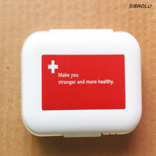 1 Pcs/set Cute 8 Cells Portable Small Medication Storage Boxes Plastic Folding Medicine Container For Drugs Pill Vitamin