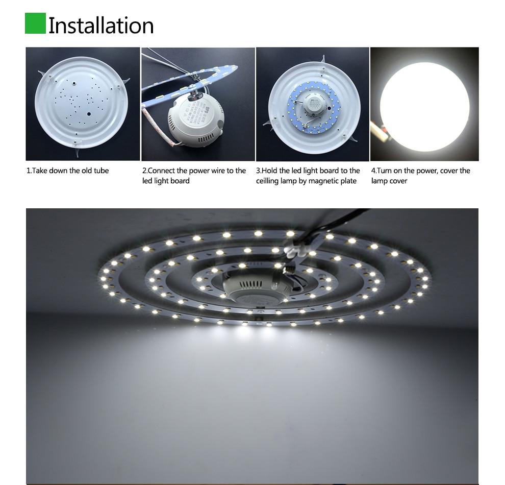 2018 Ceiling Lamp Led Lighting Plate White / Warm White Adjustable ...