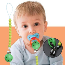 Promotional Toddler Baby Infant Soother Wood Pacifier Clips Holders Chain Leashes Cases(China)