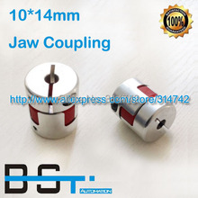 NEW 10mm to 14mm Jaw Flexible Shaft Coupling 10x14mm Spider Coupling Plum Coupler(China)