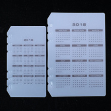 2018 Calendar PP board PVC storage bag receive card bag  A5 A6  spiral notebook loose leaf diary coil ring binder filler