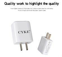 CYKE 5V 1.0A Universal Single USB Charger Wall Charger China Plug Portable for iPhone Samsung Xiaomi Charging Travel Adapter