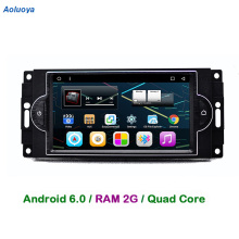 Aoluoya RAM 2GB Android 6.0 CAR Radio DVD GPS Player For Chrysler 300C Dodge RAM Jeep Commander Compass Wrangler Grand cherokee(China)