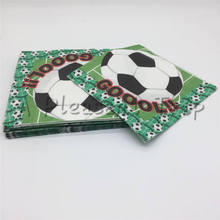 20pcs/lot World Cup Soccer Napkin Kids Birthday Wedding Party Supplies Football Paper Napkins Birthday Happy Party Supplies(China)