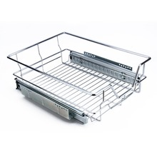 400mm Keuken Schuifdeur Kast Organizer Pull Out Chrome Draad Opslag Mand Lade Kast Max Laden 20 kg(China)