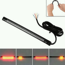 Universal LED Motorcycle Light Strip Tail Brake Stop Turn Signal Flexible Led Light Cafe Racer Tail Light(China)