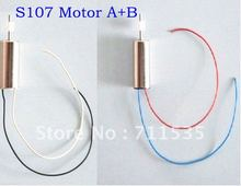 Free Shipping Main Drive Motor Set A + B S107-16/17 Spare Part Accessory For Syma S107 S107G 3Ch RC Helicopter Toys(China)