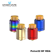 Original VANDY VAPE Pulse 22 BF RDA Rebuildable Dripping Tank 1ml Capacity Unique Leak Resistant Tubular e cigarette Atomizer
