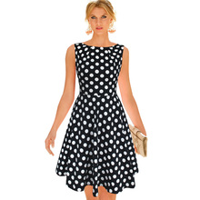 Vfemage Womens Elegant Summer Star Pocket Pinup Fit and Flare Wear To Work Office Casual Party A-Line Skater Dress 2710