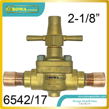 "2-1/8"" Global shutoff Valve with extend longer tube designed for air source or water source heat pump VRF air conditioner system"