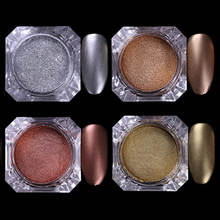 1 Box BORN PRETTY Chocolate Matte Glitter Powder 2g Nail Dust 4 Colors Manicure Nail Art Glitter Powder Decorations
