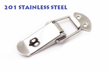 10pc/LOT 201 STAINLESS STEEL 75x23mm Spring Toggle Latch Hasp Silver Tone Spring Loaded for Cabinet Cases Box Chests lock CK1114(China)