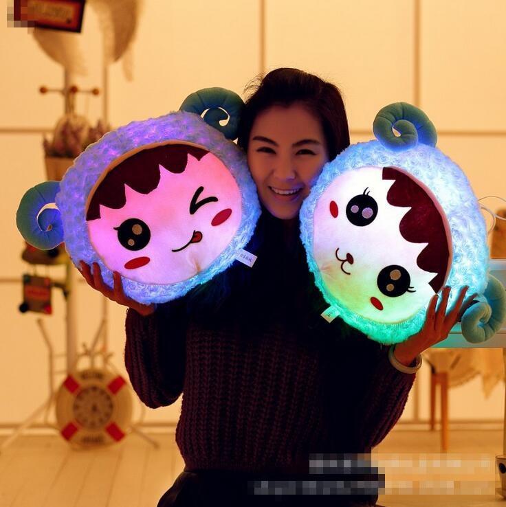 New Arrival Led Light Pillow Cute Animal Luminous Pillow Soft Cusion Cartoon Plush Toy Children Birthday Gift Hot Sale<br><br>Aliexpress