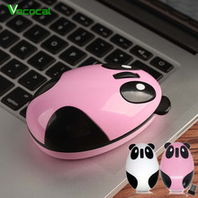 Vococal Cartoon Panda Style Mini Rechargeable 2.4GHz Wireless Computer Optical Mouse for Win Mac Linux Andriod IOS Computer(China)