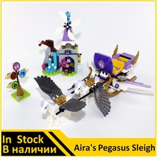 BELA Building Block 10413 Compatible with Elves Figures Aira's Pegasus Sleigh 41077 Worriz Fairy Toy For Children(China)