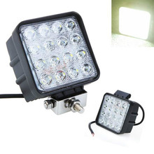 Universal Super Bright 4 Inch 48W 16LED 48W Work Spotlight /Floodlight Beam  Light for SUV ATV Offroad Led Lamp OffRoad Driving