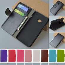 For HTC One Dual Sim Flip PU Leather Case for HTC One dual sim 802t 802w 802d Cover with Stand and Card Holder J&R Brand