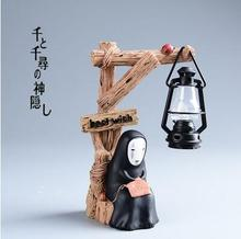 free shipping Spirited Away faceless man LED light model Resin action figure set