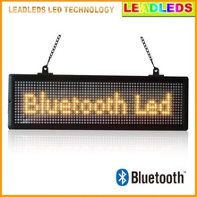 52x16cm Yellow Led display Bluetooth programmable scroll Message led to commercial and shop signs
