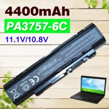 4400mAh New  6 Cell Laptop Battery for Toshiba PA3757U-1BRS PABAS213 Qosmio F60 F750 F755 Series