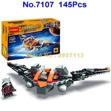 Decool 7107 145pcs Guardians Of The Galaxy Rocket Raccoon Star War Fighter Building Blocks Brick Toy