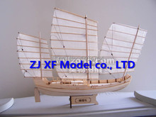 Free shipping Scale 1:148 Laser-cut wooden sail ship model: Ancient Chinese Sailboat Green Eyebrows of Zheng he's armada ship