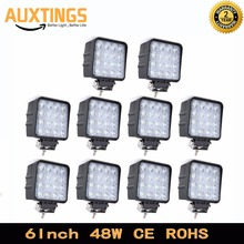 20PCS 10PCS FREE SHIPPING SUV 4x4 offroad 48W led work light for truck 12V 4x4 Driving Lights Spotlights tractor offroad lights(China)