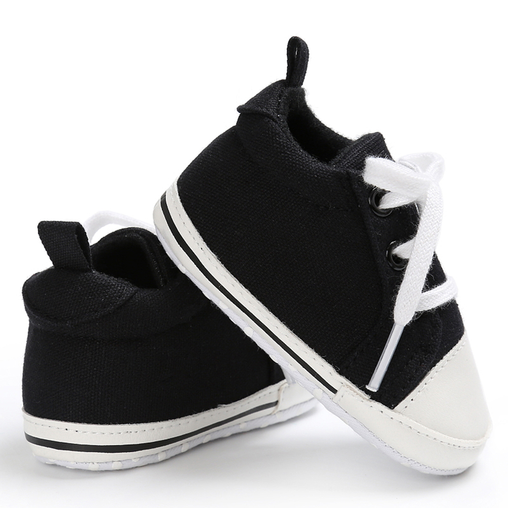 Spring Summer Newborn Canvas Shoes Sneaker Fashion 0-18 Month Baby Girls Boys Solid Soft Sole Shoes Prewalker First Walkers 10
