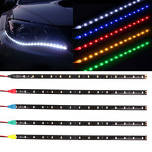 15 SMD 30CM 5050 LED Strip Light Flexible DC12V Car Decor Waterproof Motor Truck Motorcycle Decoration White Amber Red Blue