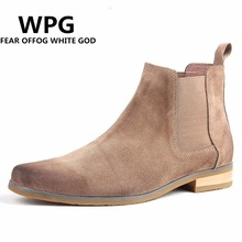 2017 NEW style Top quality designer men shoes luxury brand Chelsea mens boots shoes