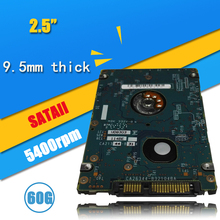 "A++++60GB HDD  2.5"" HDD  SATA 60GB 5400RPM   HD  xbox 360 Notebook Hard Disk Drive interno Disco Duro Hot Selling"