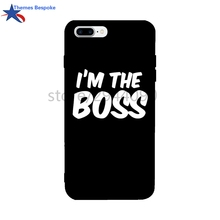 Ultra-thin Colorful Soft TPU For Iphone 7/6s Plus Case I'm The Boss For Iphone 8 Plus/6 Glaze Anti-Knock For Iphone Case X(China)