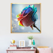 5D DIY Colorful roses Diamond Painting  Embroidery Paint Cross Stitch Craft 30*30cm E2S