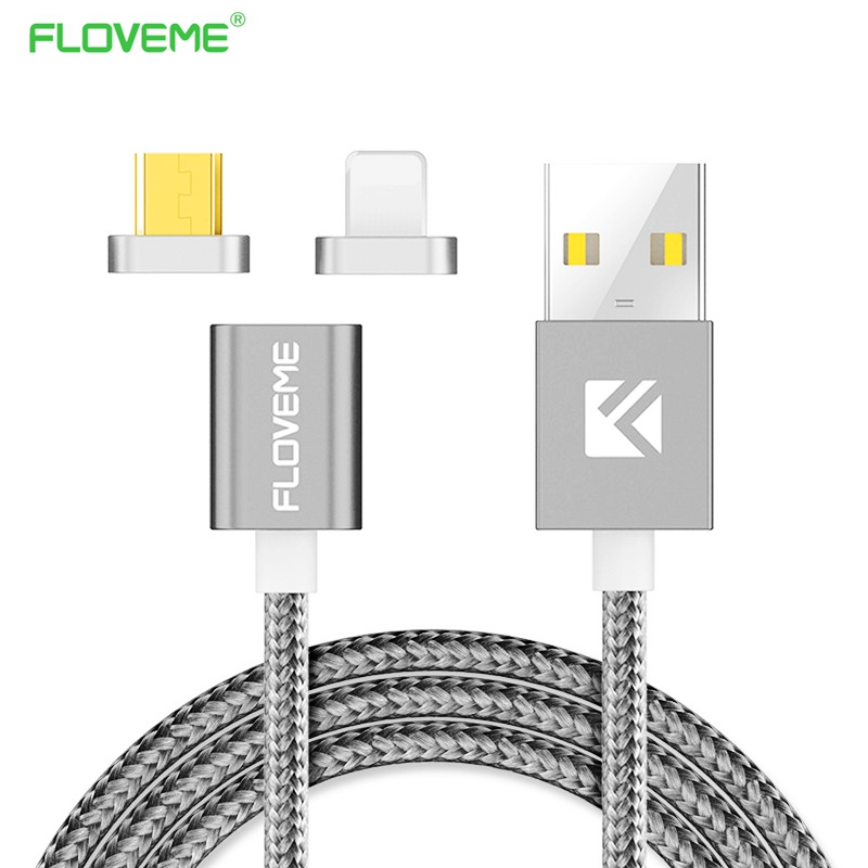 FLOVEME Magnetic USB Cable For iPhone 5 6 7 Charger Cable Magnetic Charging Cable For Samsung Micro Usb Cable & Magnetic Adapter(China (Mainland))