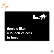 Memory Home There's Like A Bunch Of Cats In Here Indoor Outdoor Door Mat Non-slip Doormat Machine Washable Non-woven Fabric Rug(China)