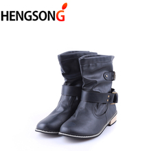 Brand PU Leather Motorcycle Boots Biker Shoes Women Gothic Punk Combot Booties Platform Boots Ankle Boots for Women PA910307(China)