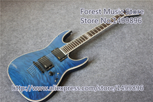China Custom Shop Blue Quilted Finish ESP MH-1000 LTD Deluxe Electric Guitar As Pictures For Sale