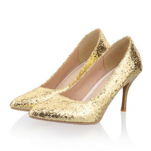 Sexy Women Rhinestone Wedding Shoes 8cm heel women Pumps High Heels Crystal Shoes Gold Black Pink 3 colors