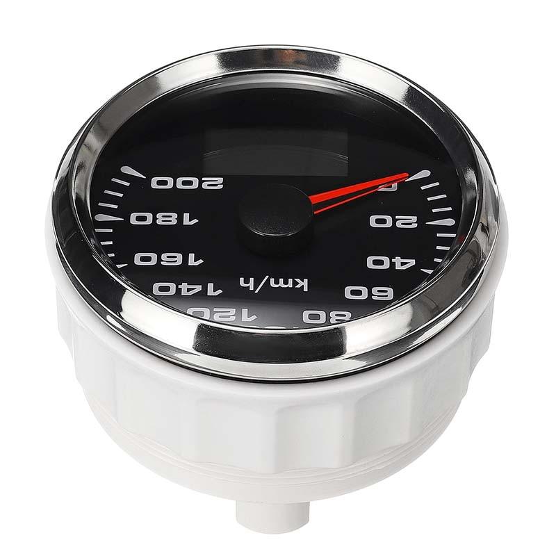 New 85mm GPS Speedometer 200km/h GPS Speedometer Gauge 9-32V Seven-color backlight Motorcycle Marine Boat Buggy 10