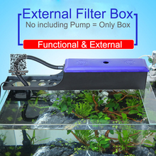 Aquarium External Filter Box for pump,water box for circulation system, Adjustable length 24~60cm filter container for fish tank(China)