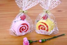 Free Shipping(10pcs/lot), creative gift towel cake, Swiss roll Cotton towel,Holiday Gifts or gifts in return