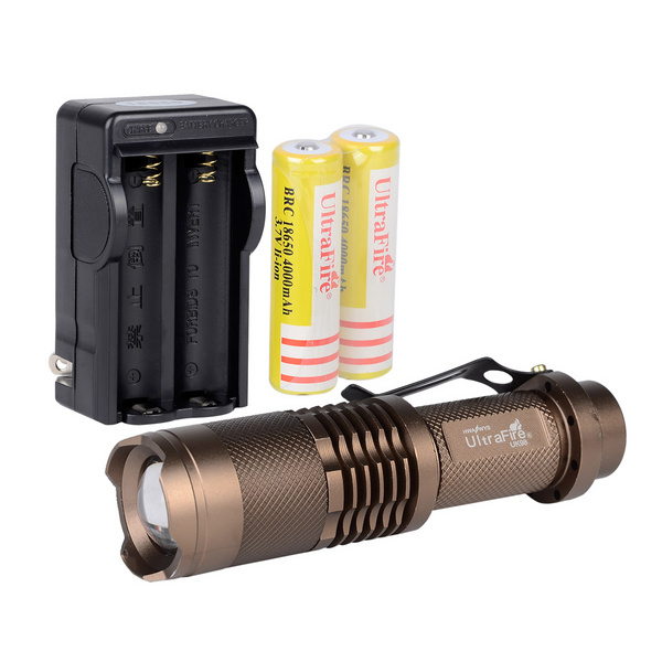 1 Set LED Flashlight SK68 Cree Q5 LED 400lm 3-Mode White Light Zoomable Flashlight by AA or 14500 Battery<br><br>Aliexpress