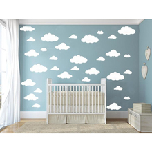 31pcs/set DIY Big Clouds 4 Sizes Decals Removable Vinyl Wall Sticker Kids Room Decoration Art Home Mural Decor Stickers(China)