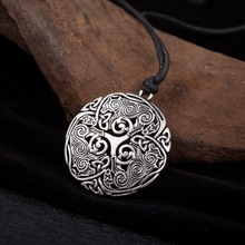 Lemegeton Men Accessories Triskele Spiral Symbol Teen Wolf Triskelion Pendant Trinity Knot Gothic Charm's Fashion Necklace