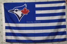 Toronto Blue Jays Stripes Nation American Outdoor Indoor Hockey Baseball College Flag 3X5 Custom USA Any Team Flag(China)
