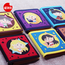 mr.wan new stationery notebook laptop cute sailor moon loose-leaf notebook portable hand account book