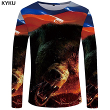 Buy KYKU Brand Bear Long sleeve T shirt Russia Tshirt Clothes Clothing Tops Tees T shirts Women Funny Casual 2017 New for $7.95 in AliExpress store