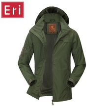 2017 Jacket Men Waterproof Casual Army Green Outwear Military Man Cotton Jackets Overcoat Mens Parka Thermal Brand Clothing X530